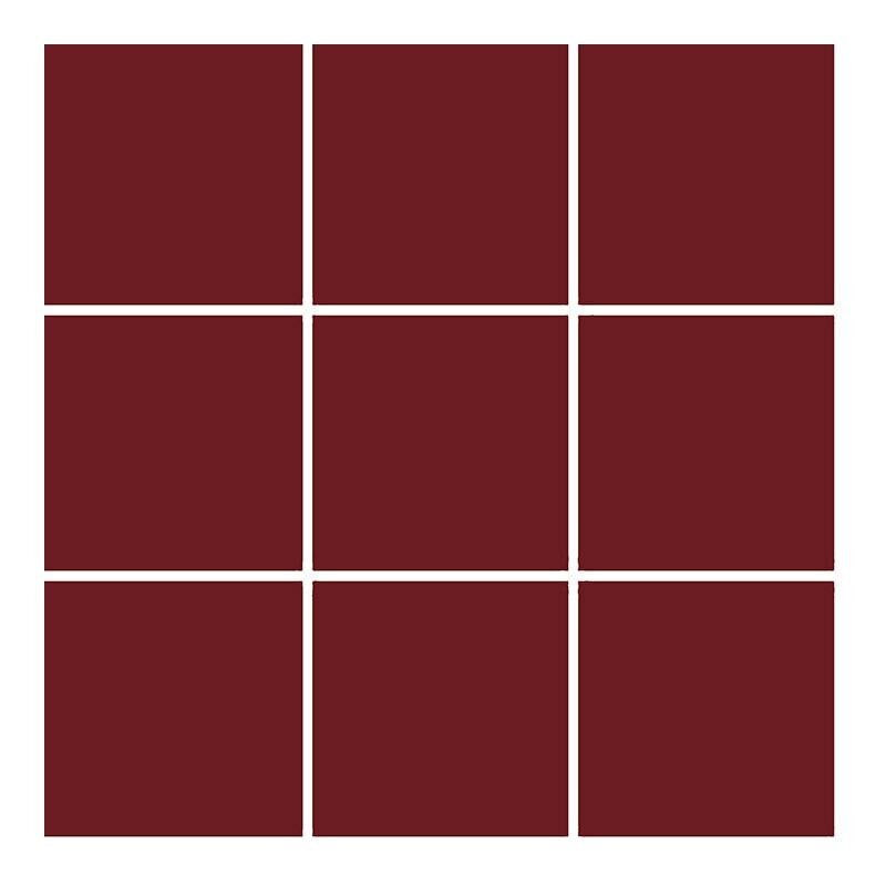 10x10 Color RAL 3004 Bordo Mozaik Mat  (DM) Mozaik Karo, Mat