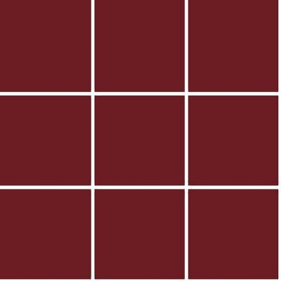 10x10 Color RAL 3004 Bordo Mozaik Mat  (NF)